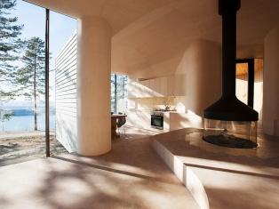 Дом на берегу озера в Норвегии Cabin Norderhov
