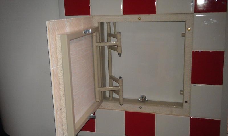 Как сделать ревизионный люк невидимку для ванной 5