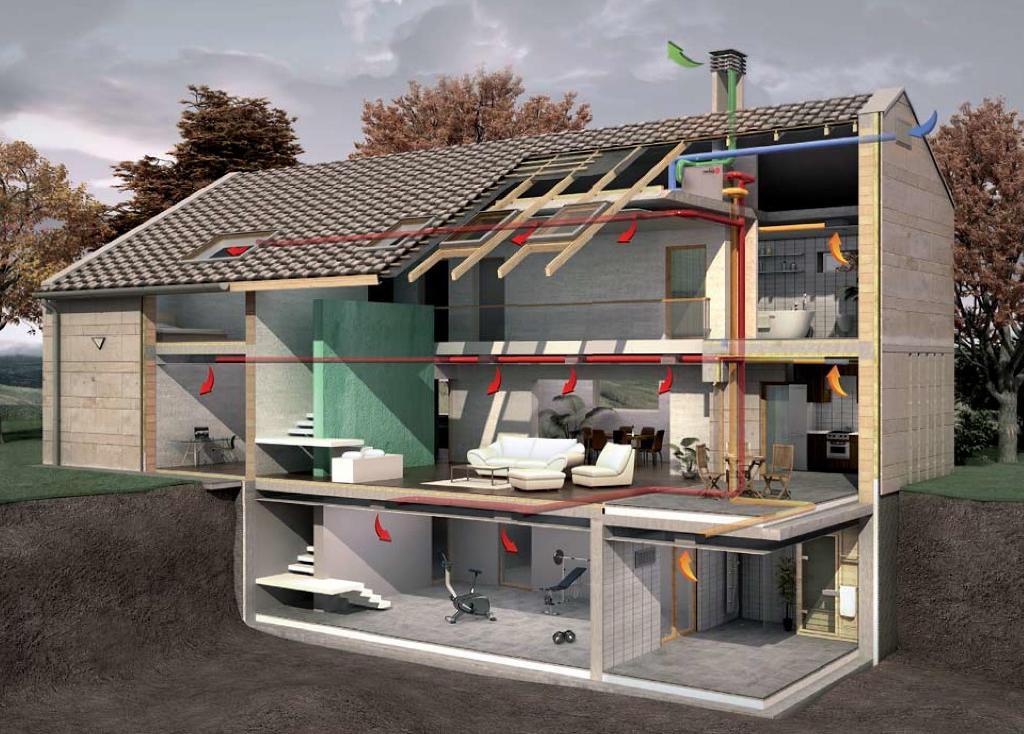 Естественная вентиляция дома своими руками фото