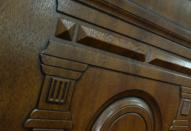 Отделка дверей панелями МДФ